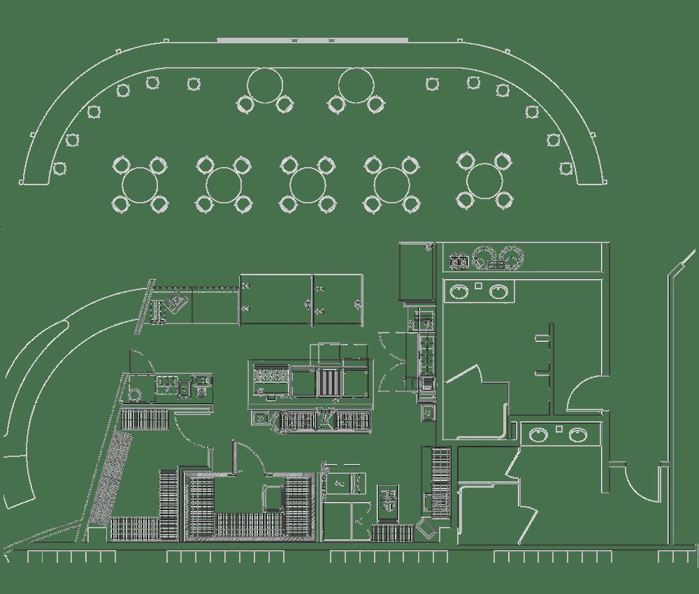 Horsham Athletic Club Project restaurant kitchen design floorplan