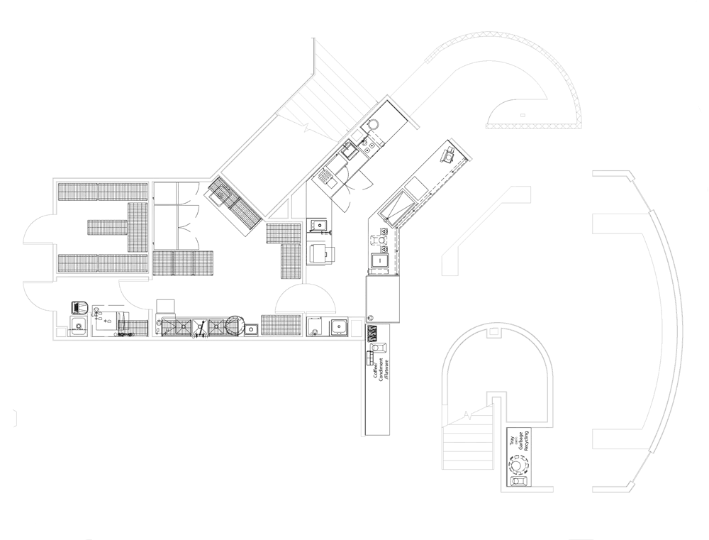 St Bernards Wellness Center Project restaurant kitchen design floorplan