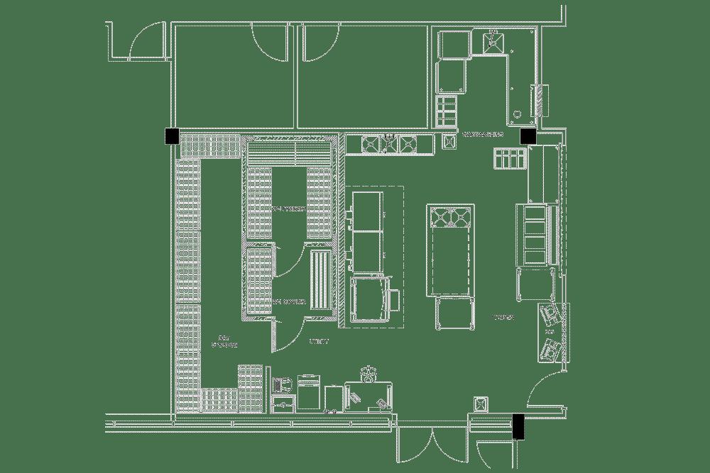 Collegium Charter School Project commercial kitchen design floorplan