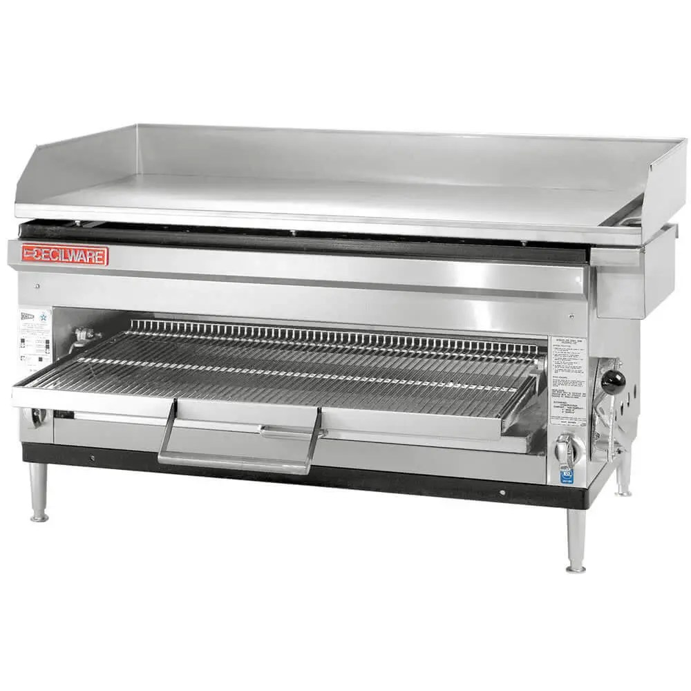 commercial griddle and cheesemelter combination