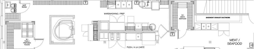 foodservice kitchen design services display floorplan rendering