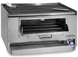 commercial countertop mesquite wood fuel restaurant kitchen charbroiler