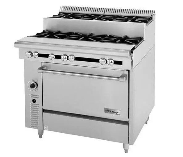step up six burner restaurant kitchen range