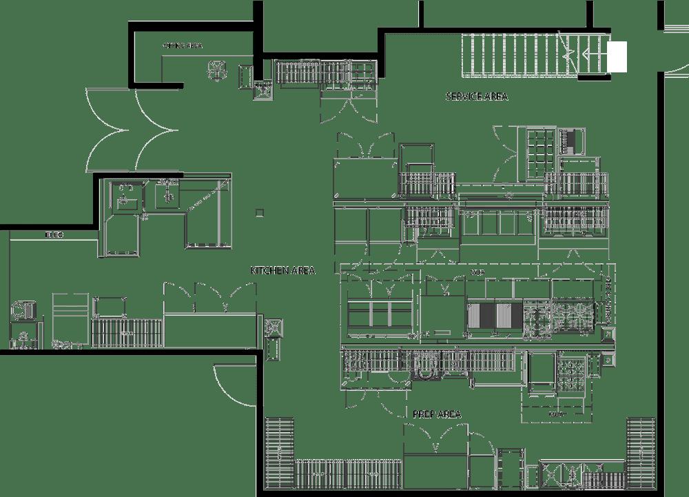 Tara's Tavern Project restaurant kitchen design floorplan