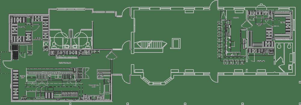 Northbound Restaurant Project restaurant kitchen design floorplan