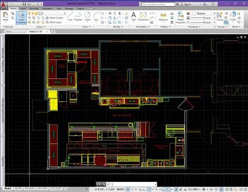 schematic kitchen design floorplan AutoCAD