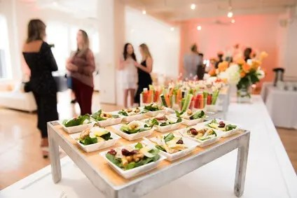 commercial kitchen produced catering items