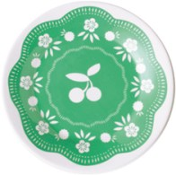 Cherry Small Plate Green