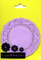 Paper Doilies Purple