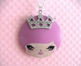 Your Highness To You Doll face Necklace
