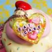 eat cake acrylic resin jewelry