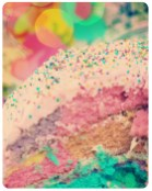 pastel rainbow cupcake