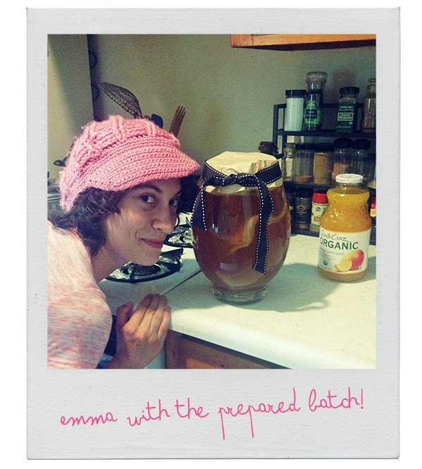 emma and our kombucha