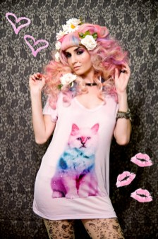 Audrey Kitching in Candy Galaxy Cat