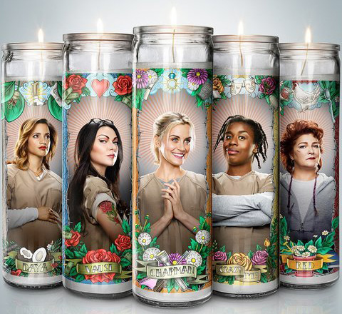 orange is the new black candle