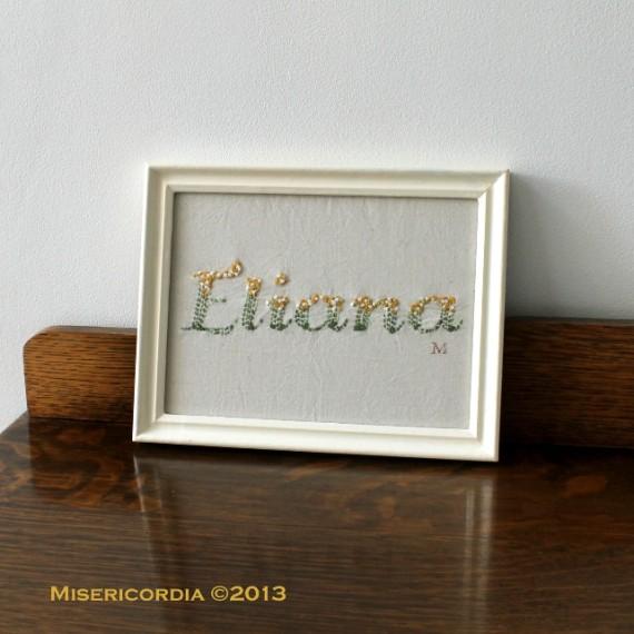 Eliana - Hand Embroidery by Misericordia