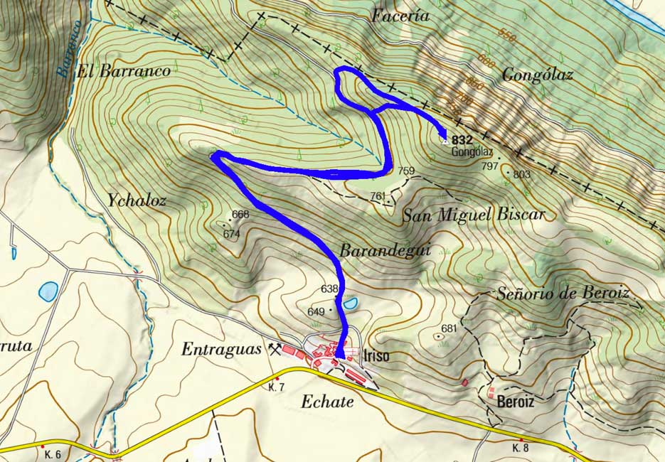 Mapa del recorrido 493