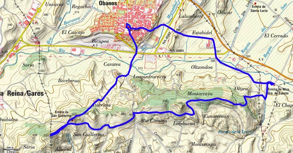Mapa del recorrido 512