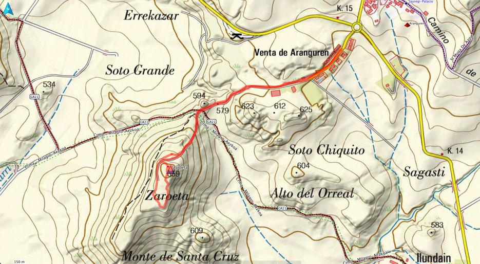 Mapa ruta 536
