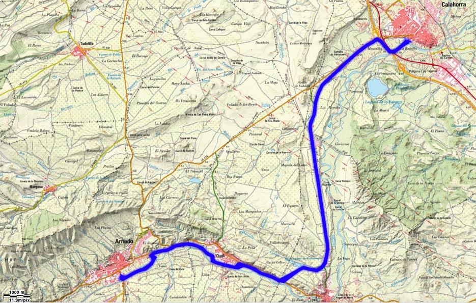 Mapa recorrido 172btt