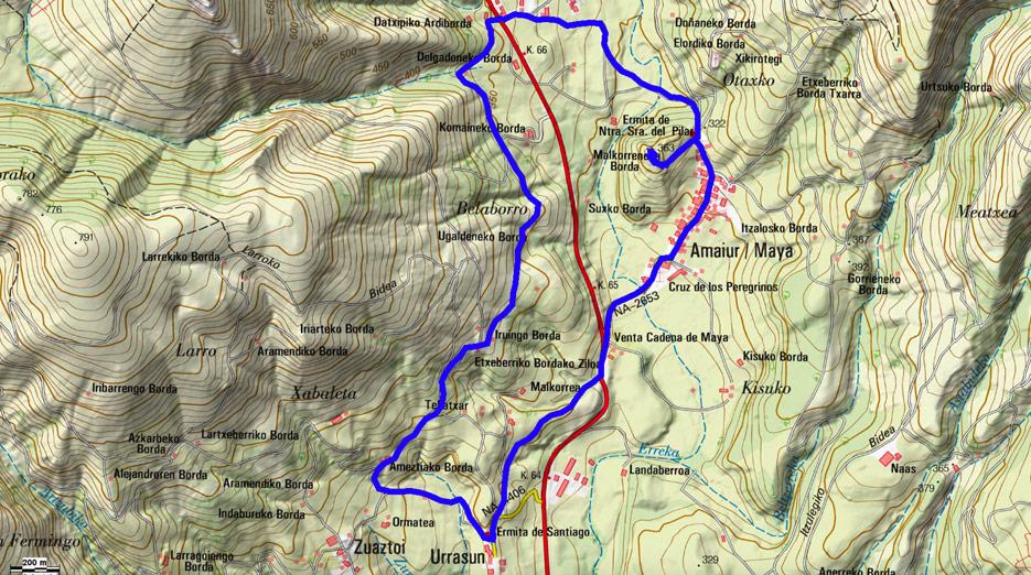 Mapa del recorrido 568
