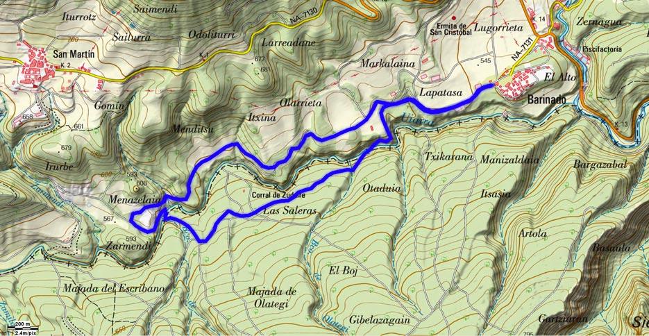 Mapa del recorrido 592