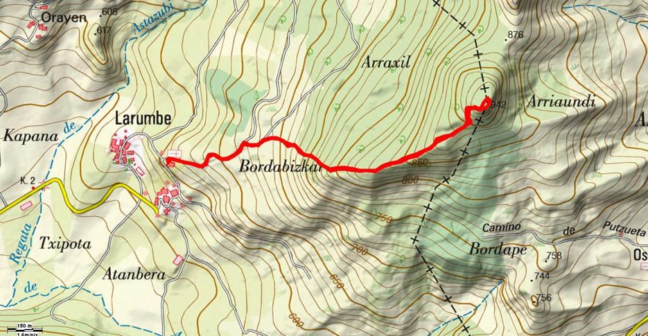 Mapa de la ruta 602