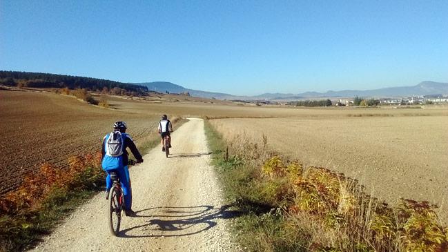 BTT por la sierra de Tajonar Noain-Navarra