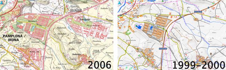 Comparativa de Mapas IGN y Topohispania en Navarra