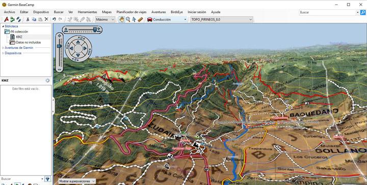Mapas en 3D en basecamp