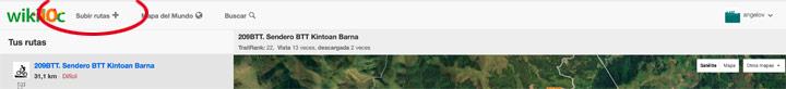 Subir rutas en wikiloc