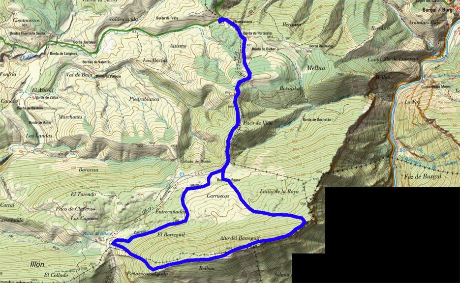 Mapa del recorrido 647