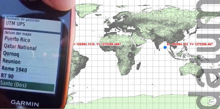 Datum en un GPS