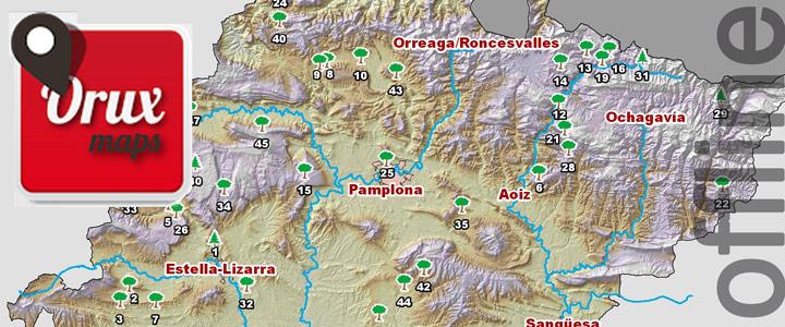 Mapas offline de Navarra para Oruxmaps