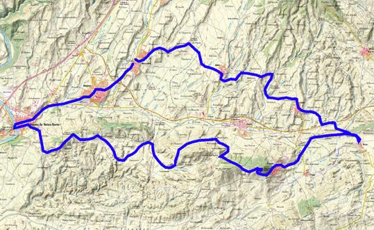 Mapa del recorrido 215BTT