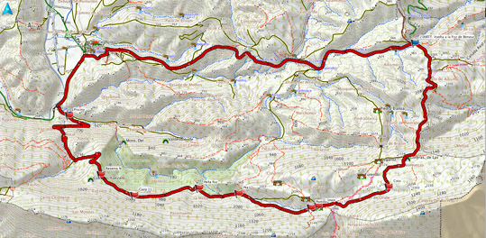 Mapa del recorrido 216btt