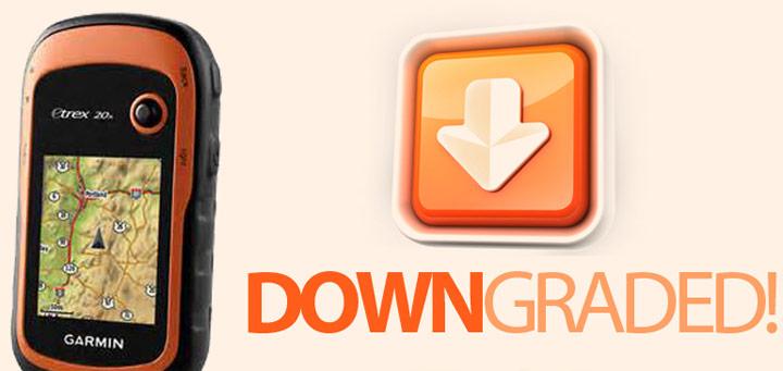 Hacer un downgrade a un Garmin