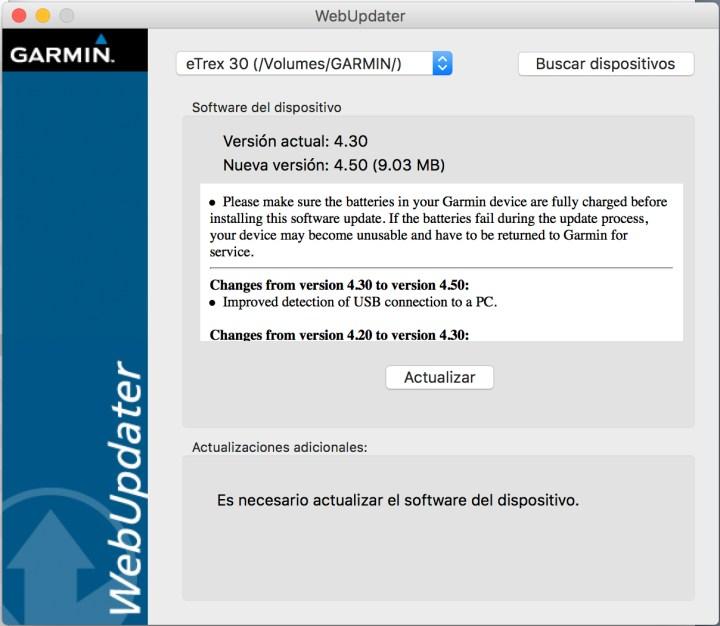 Actualizar con Webupdater