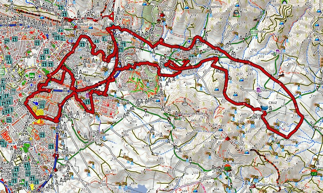 Mapa del recorrido 217btt
