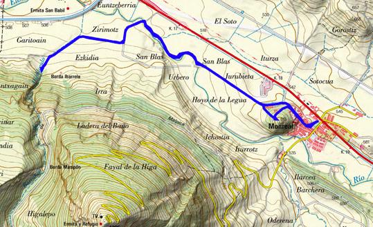 Mapa del recorrido 675