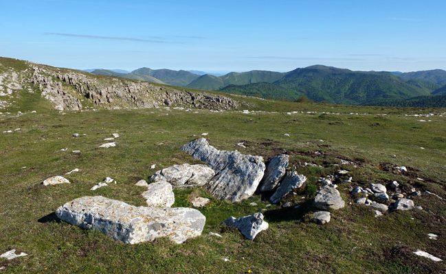 Dolmen de Arrizabala en la Sierra de Abodi