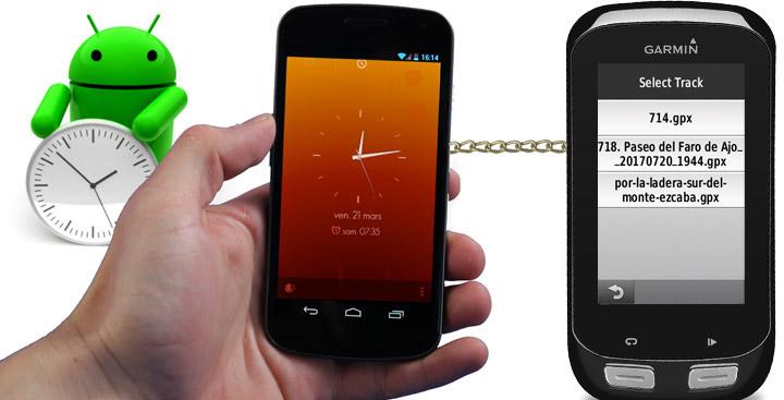 Enviar tracks de un móvil a un Edge 1000