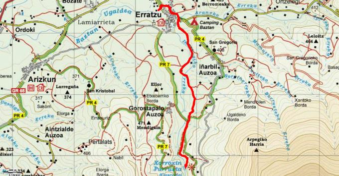 Mapa del recorrido 730