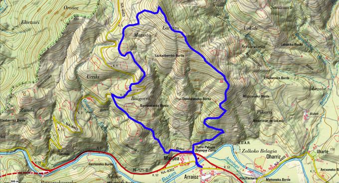 Mapa del recorrido 741