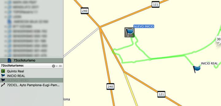 Cambiar el punto de inicio de un track GPS