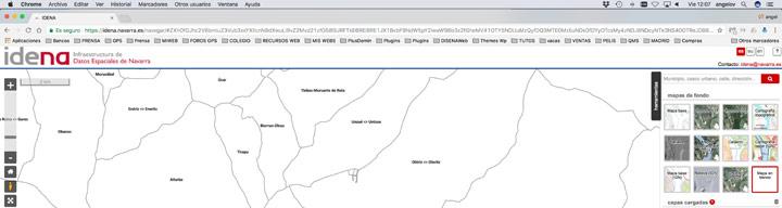 Elegimos mapa en blanco en IDENA