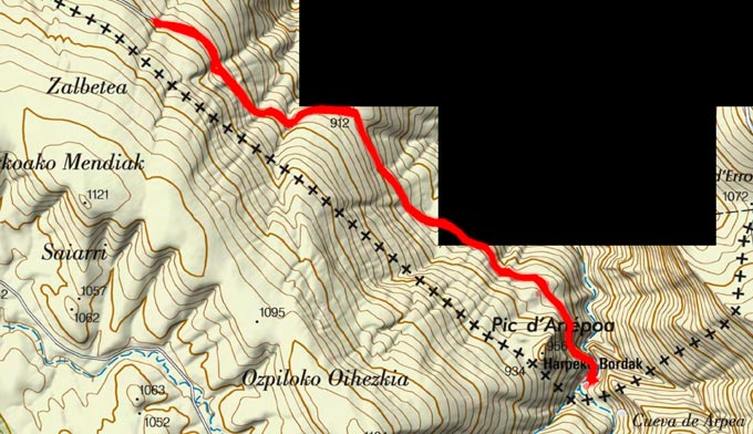 Mapa del recorrido 762