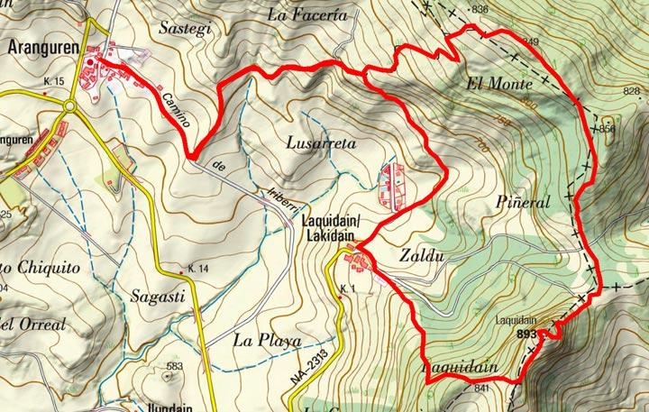 Mapa del recorrido 781