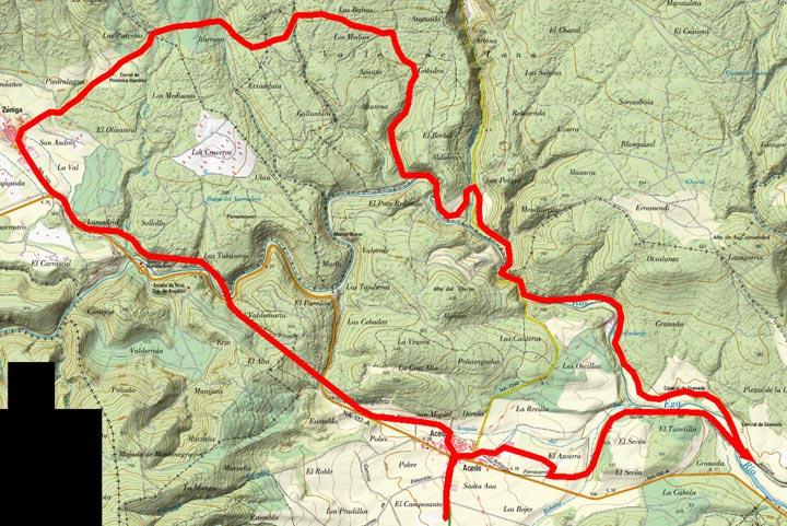 Mapa del recorrido 242btt