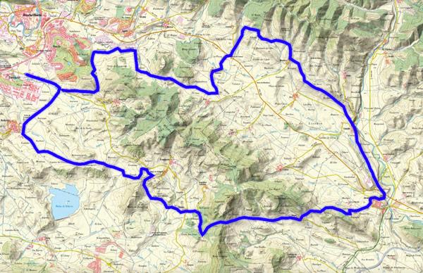 Mapa del recorrido 250BTT